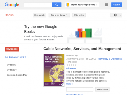 Cable Networks, Services, and Management - Google Books