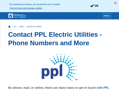Contact PPL Electric Utilities - Phone Numbers and More | CallMePower