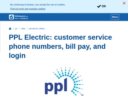 PPL Electric: customer service phone numbers, bill pay, and login | CallMePower