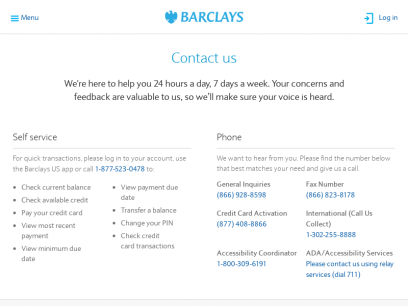 Contact Us   Barclays US