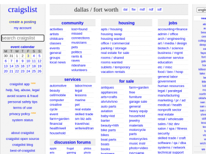 craigslist: dallas / fort worth jobs, apartments, for sale, services, community, and events