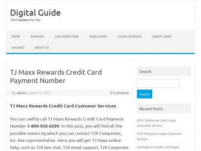 TJ Maxx Rewards Credit Card Payment Number - Digital Guide