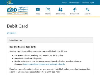 Debit Card   California EDD