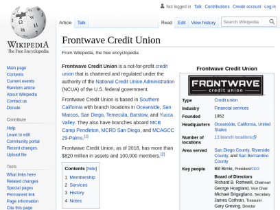 Frontwave Credit Union - Wikipedia