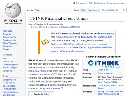 iTHINK Financial Credit Union - Wikipedia