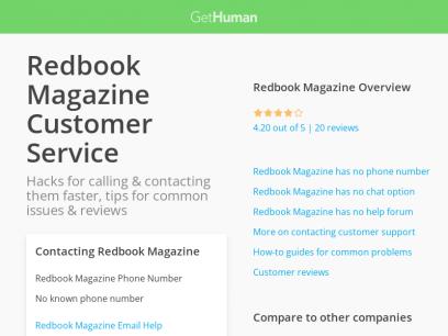 Redbook Magazine customer service