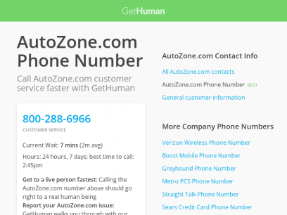 AutoZone.com Phone Number | Call Now & Shortcut to Rep