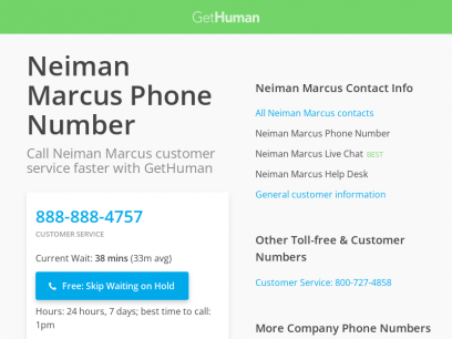 Neiman Marcus Phone Number | Call Now & Skip the Wait