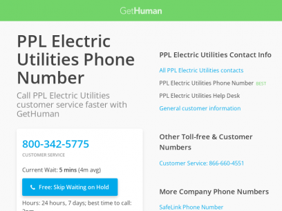 PPL Electric Utilities Phone Number | Call Now & Skip the Wait