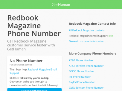 Redbook Magazine Phone Number   Call Now & Shortcut to Rep