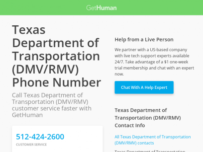Texas Department of Transportation (DMV/RMV) Phone Number | Call Now & Shortcut to Rep