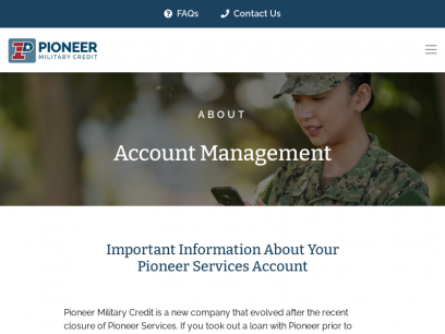 Account Management | Pioneer Military Credit