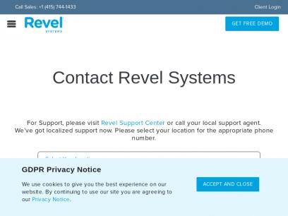 Contact Revel Systems | Revel Systems iPad POS