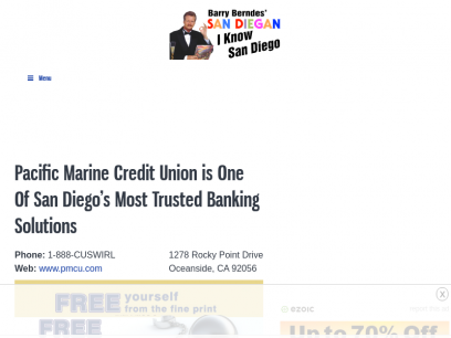 Pacific Marine Credit Union is One Of San Diego's Most Trusted Banking Solutions - SAN DIEGAN
