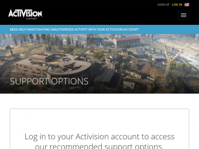 Support Options | Activision Support