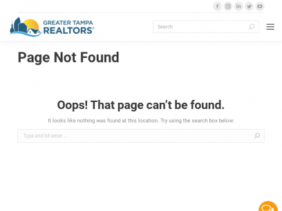 Page not found - GTR | Greater Tampa REALTORS®