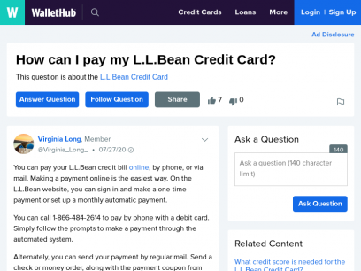 How to Make an L.L.Bean Credit Card Payment