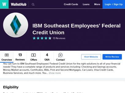 IBM Southeast Employees' Federal Credit Union Reviews: 13 User Ratings