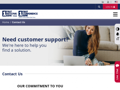 Contact Us   First National Bank Texas - First Convenience Bank