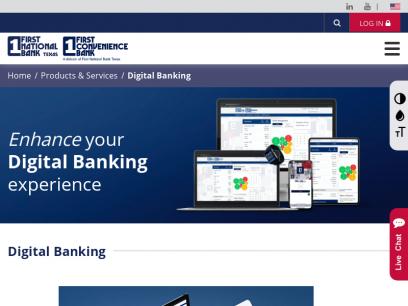 Digital Banking   First National Bank Texas - First Convenience Bank