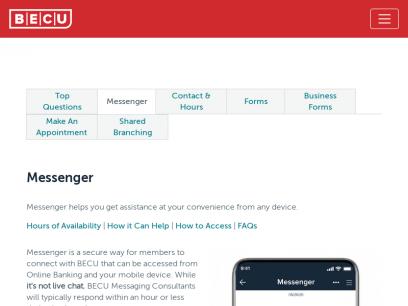 Messenger | Connect via Mobile app or Online Banking | BECU