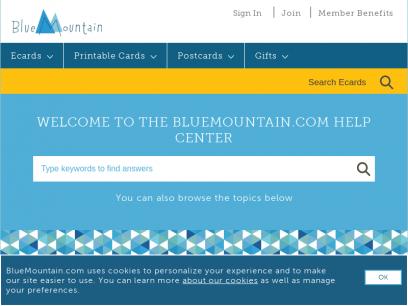 Bluemountain.com Help Center - Customer Service