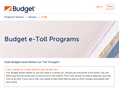 Rental Car Tolls (How to Pay at Toll Roads) | Budget Rent a Car