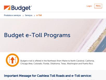 North American e-Toll Programs |Budget Car Rental