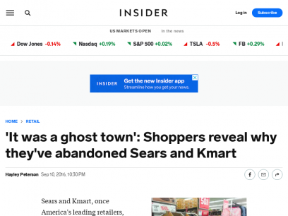 Why People Don't Shop at Sears and Kmart