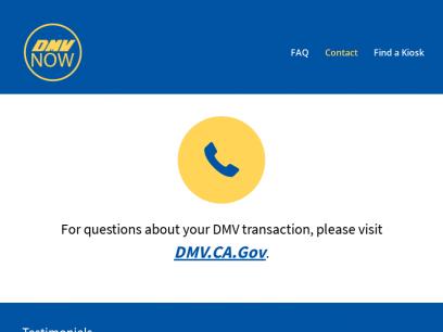 Contact   California DMV Now Kiosk - Vehicle Registration Renewal & More!