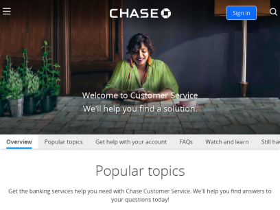 Chase Customer Service: We can help you!   Chase