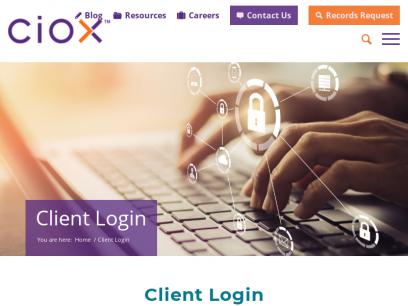 Client Login - Ciox