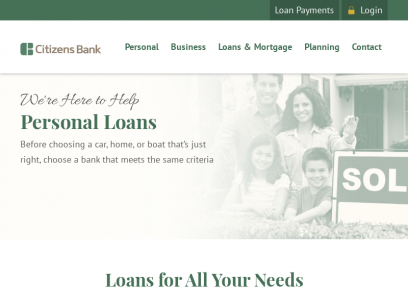 Home and Auto Loans with Great Rates | Citizens Bank