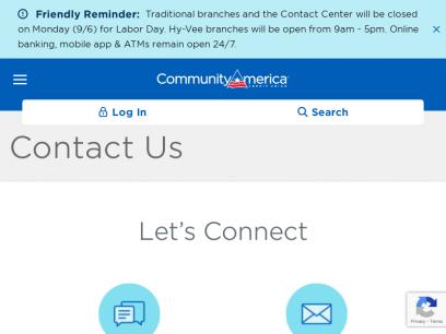 Contact Us   CommunityAmerica Credit Union