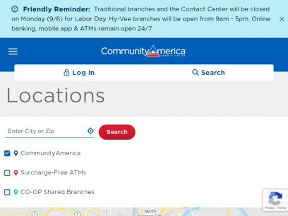 Branch Locations and Hours   CommunityAmerica Credit Union