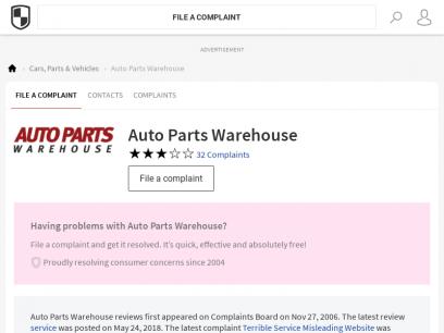 Auto Parts Warehouse Reviews, Complaints & Contacts   Complaints Board