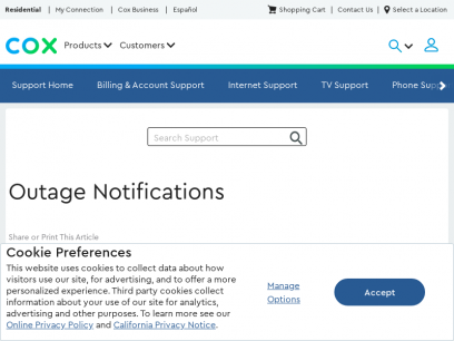 Outage Notifications