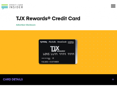 TJX Rewards® Credit Card - Info & Reviews - Credit Card Insider