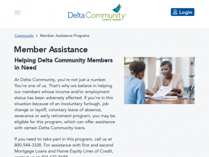 Member Assistance Programs - Delta Community Credit Union