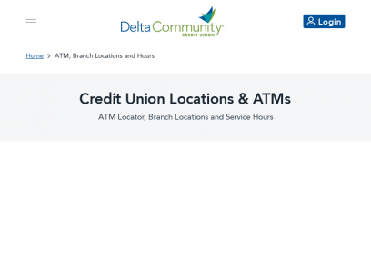 Credit Union Locations and Hours: Branches & ATM Locator - Delta Community Credit Union