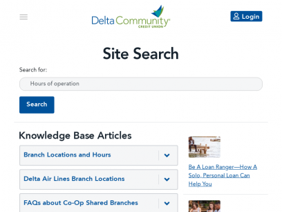 Search: Hours of operation - Delta Community Credit Union