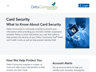 Card Security - Delta Community Credit Union