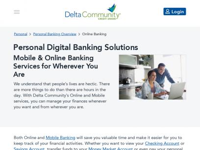 Online Credit Union Banking Services - Delta Community Credit Union