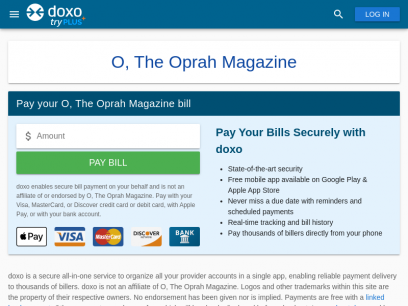 O, The Oprah Magazine | Pay Your Bill Online | doxo.com
