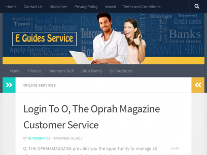 www.pay.theoprahmag.com- Login To O, The Oprah Magazine Customer Service