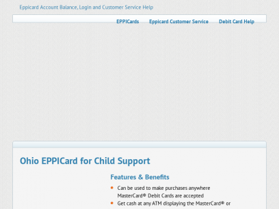 Ohio EPPICard for Child Support - Eppicard Help