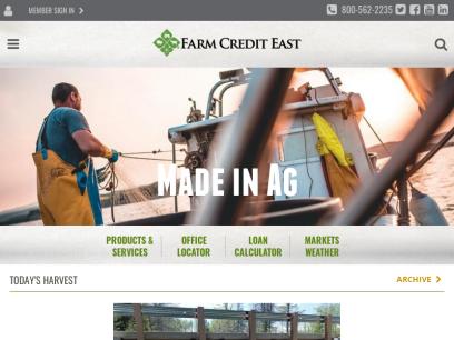 Farm Credit East  – Farm Loans & Ag Financial Services