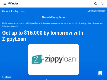 Get up to $15,000 by tomorrow with ZippyLoan   finder.com