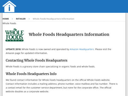 Whole Foods Headquarters Information – Headquarters Info
