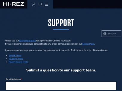 Hi-Rez Studios || Support Ticket